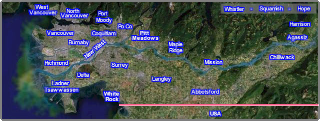 Clickable Greater Vancouver Realtor Map